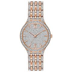 Bulova Womens Rose Goldtone Bracelet Watch-98l235