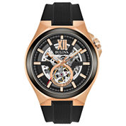 Bulova Mens Black Strap Watch-98a177