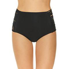 Arizona Solid High Waist Swimsuit Bottom-Juniors