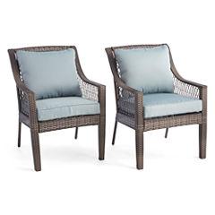 Outdoor Oasis™ Latigo Wicker Dining Chair set of 2