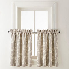 JCPenney Home Quinn Leaf Rod-Pocket Window Tiers