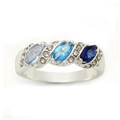 city x city® Blue 3-Stone Ring
