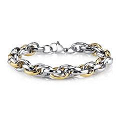 Mens Two-Tone Stainless Steel Spartan Bracelet