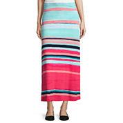 Liz Claiborne® Striped Maxi Skirt - Tall