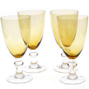Certified International Set of 4 All-Purpose Glass Goblets
