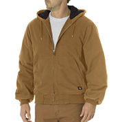 Dickies® Sanded Duck Insulated Hooded Jacket - Big & Tall