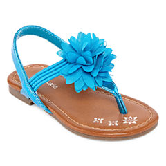 Okie Dokie Lil Fleur Girls Flat Sandals - Toddler