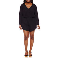 Decree Bell Sleeve Romper - Juniors Plus