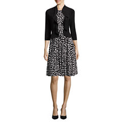 Danny & Nicole 3/4 Sleeve Jacket Dress