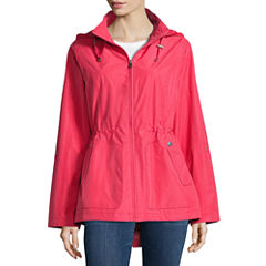 Details Anorak Raincoat with Diamond Dot Detail