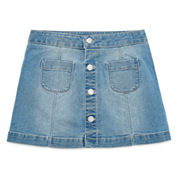 Arizona Solid Denim Skorts - Big Kid