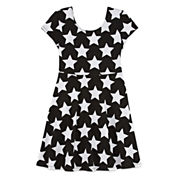 Total Girl Short Sleeve Skater Dress - Big Kid