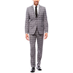 Collection by Michael Strahan Gray Glen Plaid Suit Separates-Slim Fit