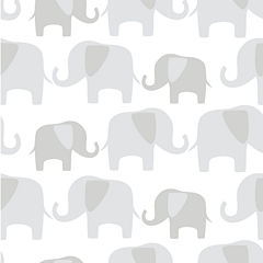 Elephant Parade Peel-and-Stick Wallpaper