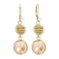 Monet® Yellow Stone Gold-Tone Double-Drop Earrings