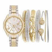 Womens Two-Tone Watch Box Set