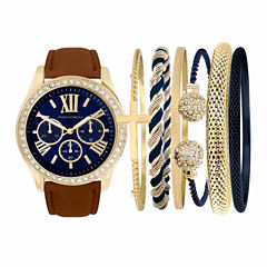 Fashion Watches Womens Brown Watch Boxed Set