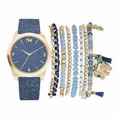 Mixit Womens Blue 9-pc. Watch Boxed Set-Jc2155g569-032