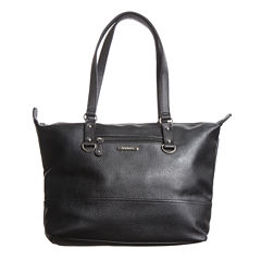 Stone And Co Talia Front Zip Pebble Leather Tote Bag