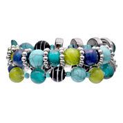 Mixit Womens  Turquoise 2 Row Set Stretch Beaded Bracelet