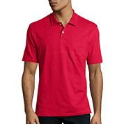 St. John's Bay® Short-Sleeve Pocket Polo Shirt