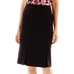 Black Label by Evan-Picone Vented-Hem Skirt