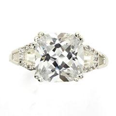 Sparkle Allure White Halo Ring