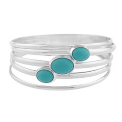 Liz Claiborne Womens Blue Bangle Bracelet