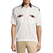 Palmland Short Sleeve Knit Polo Shirt