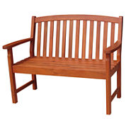 Slatback Patio Bench
