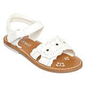 Okie Dokie® Vivie Girls Open-Toe Strap Sandals - Toddler