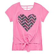 Total Girl Short Sleeve Layered Top - Big Kid Girls