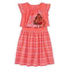 Disney Short Sleeve Moana A-Line Dress - Toddler Girls