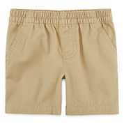 Okie Dokie® Twill Pull-On Shorts - Baby Boys newborn-24m