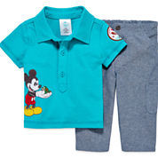 Disney Baby Collection 2-pc. Pant Set - Baby Boys newborn-24m