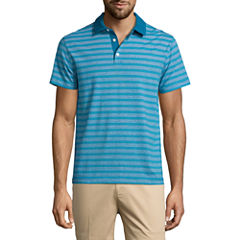 Claiborne Short Sleeve Stripe Polo Shirt