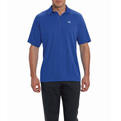 Champion Short Sleeve Solid Knit Polo Shirt