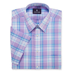 STAFFORD TRAVEL SHORT-SLEEVE BROADCLOTH DRESS SHIRT