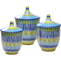 Certified International Tapas Set of 3 Canisters