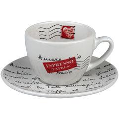 Konitz Coffee Bar Amore Mio 8-pc. Coffee Cup and Saucer Set