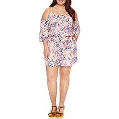 Decree Cold Shoulder Romper - Juniors Plus