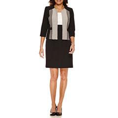Studio 1 3/4 Sleeve Jacket Dress-Petites