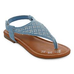 Arizona Aster Girls Flat Sandals - Little Kids