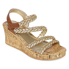 Arizona Jubilee Girls Wedge Sandals - Little Kids