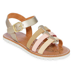 Okie Dokie Azalea Girls Flat Sandals - Toddler