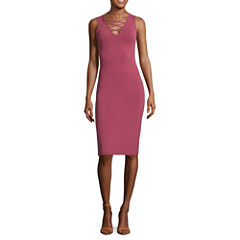 Decree Lattice Front Bodycon Dress - Juniors
