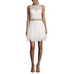 My Michelle 2Pc. Beaded Party Dress Set-Juniors
