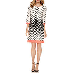 Studio 1 Elbow Sleeve Shift Dress