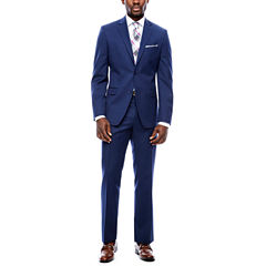 Collection by Michael Strahan Navy Plaid Suit Separates-Slim Fit
