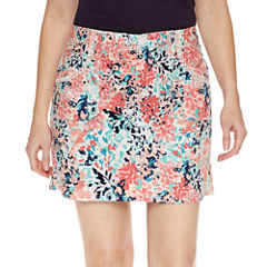 St. John's Bay Floral Cotton Blend Skorts